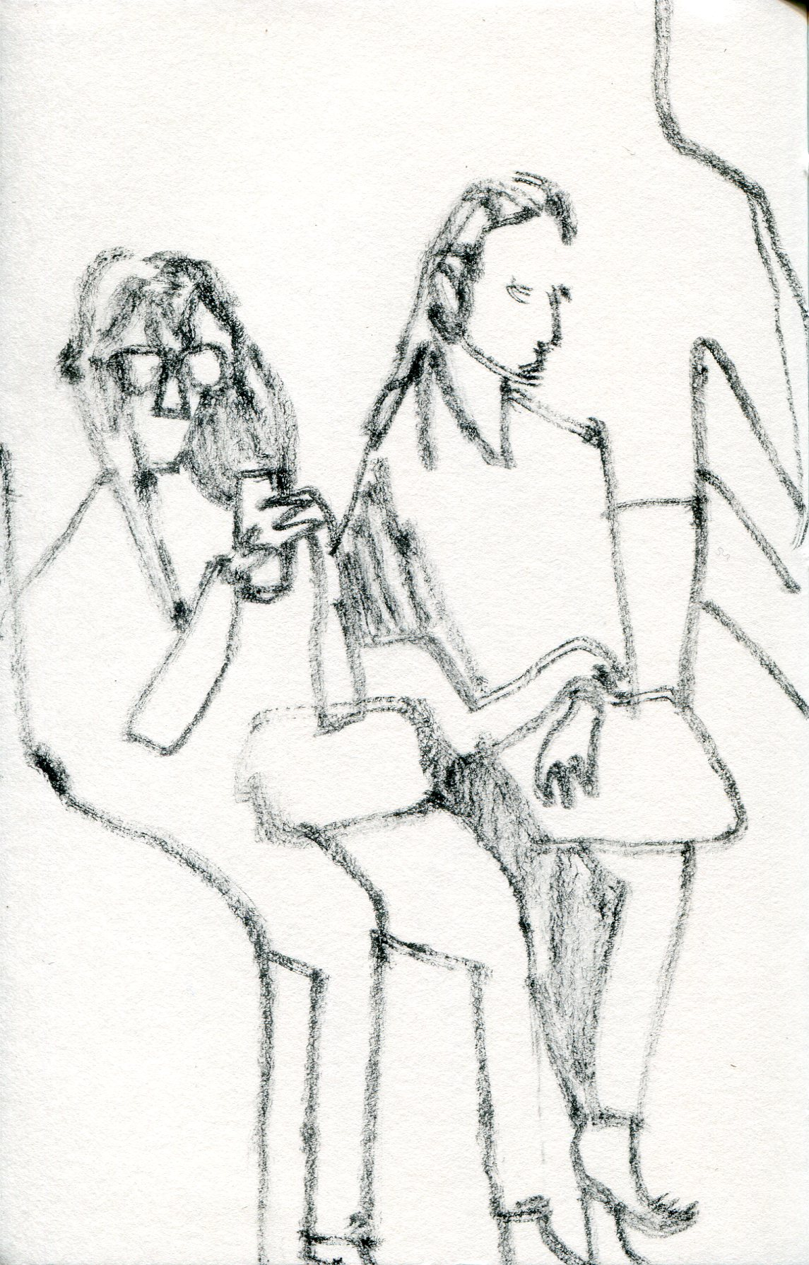 Underground drawings (two figures)