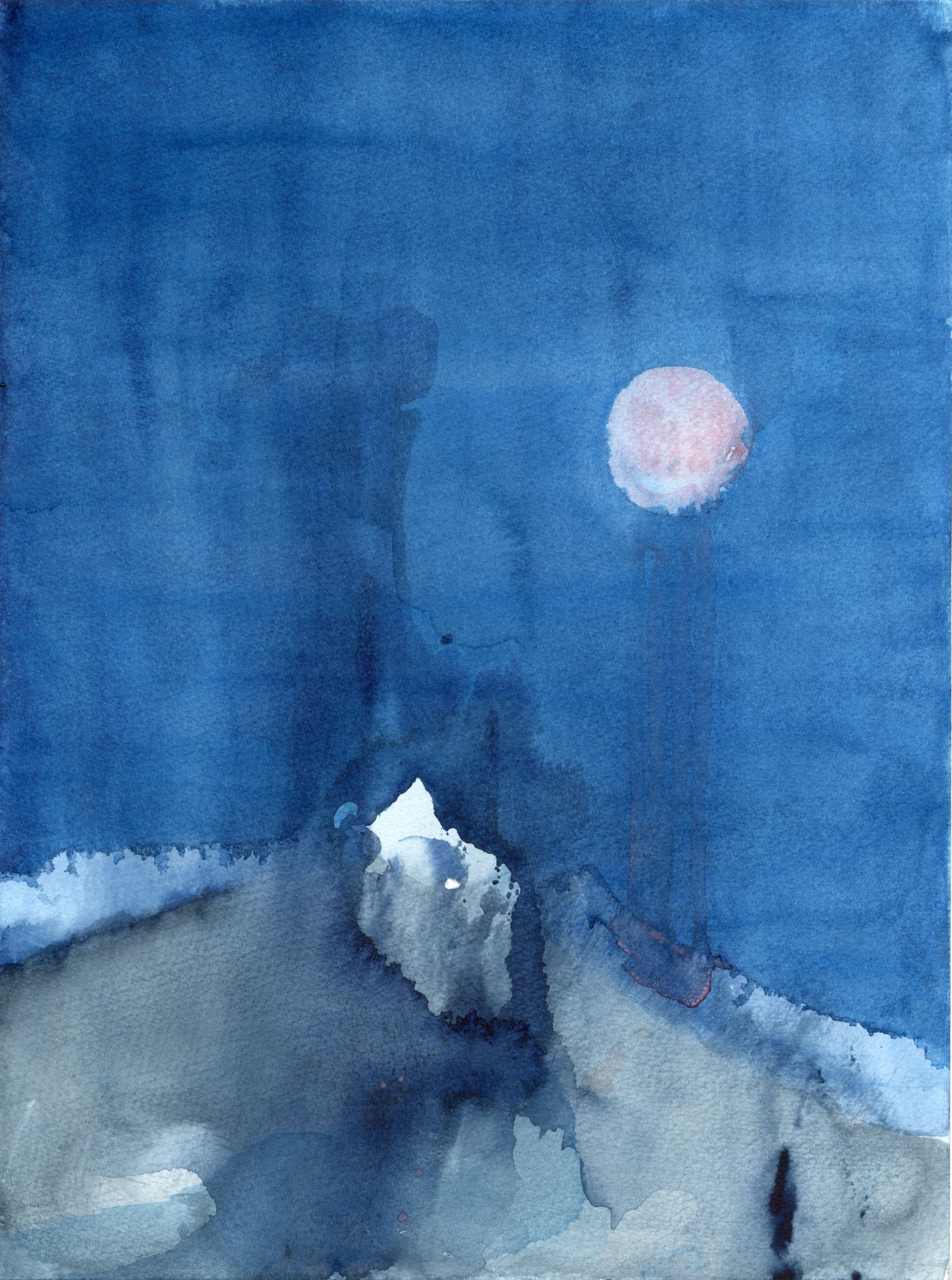 Untitled (pink moon)