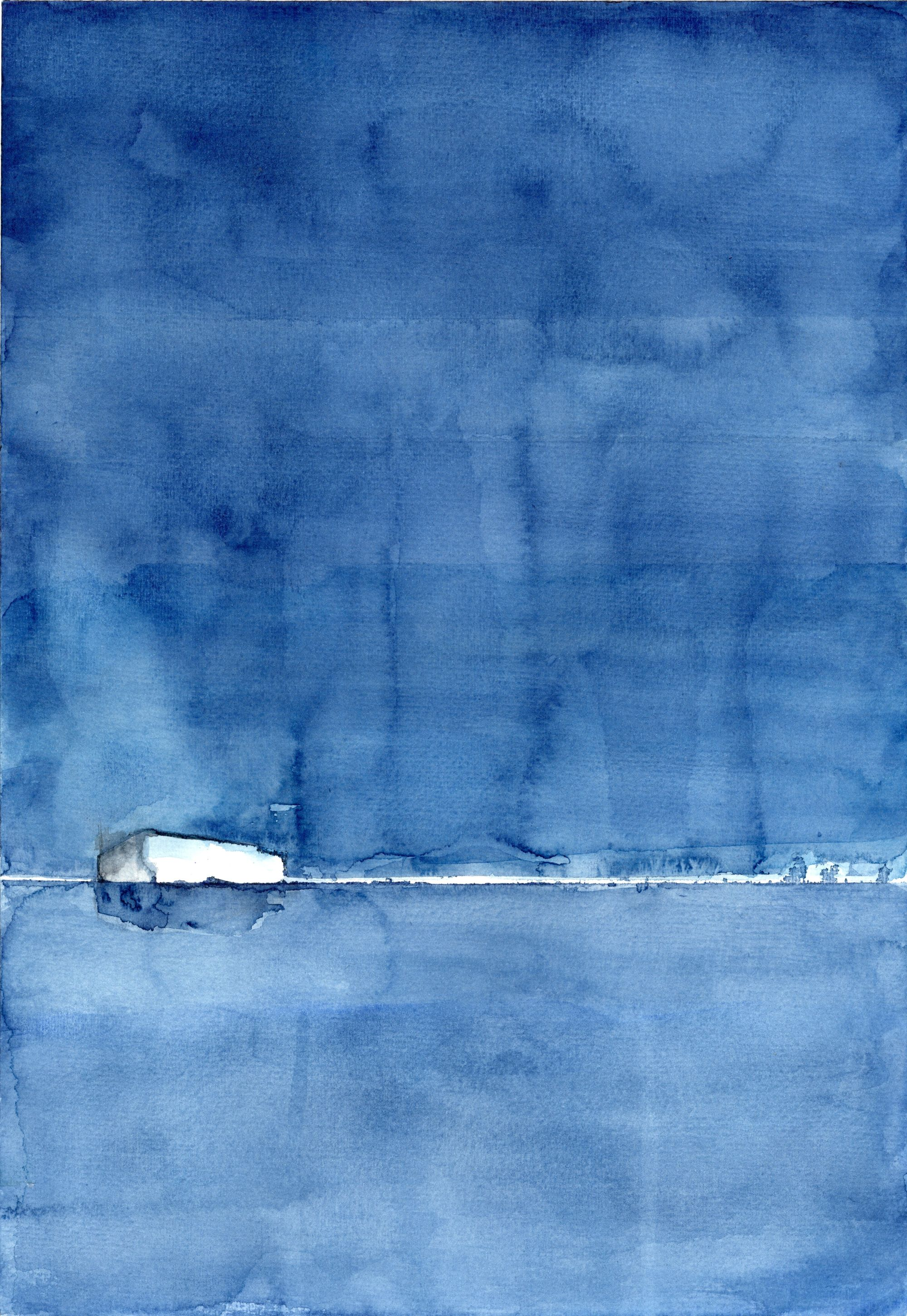 Untitled (white and blue)