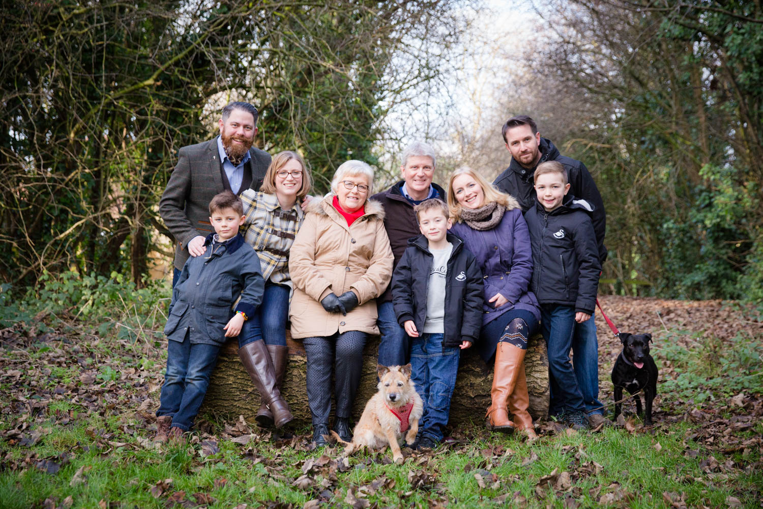 It was an absolute pleasure to capture Paul and Beverly, their two daughters and partners, and three grandchildren (not forgetting their dogs!)on the final day of the year.  The shoot was a present from Paul and Beverly by daughters, Rachel and Sam, for their ruby wedding anniversary earlier in the year. The family live in different corners of the UK and don't often get the chance to be all together and so it was an honour to be asked to photograph these precious moments.   Despite living in Wetherby for the past two years, and spending many a summer evening walking its paths,I have never done a photoshoot along the network of old railway tracks which branch out from the town centre towards Harrogate. I certainly hope it won't be my last time shooting in this lovely spot.  If you and family would like to book a photoshoot, check out my  family portraits page.