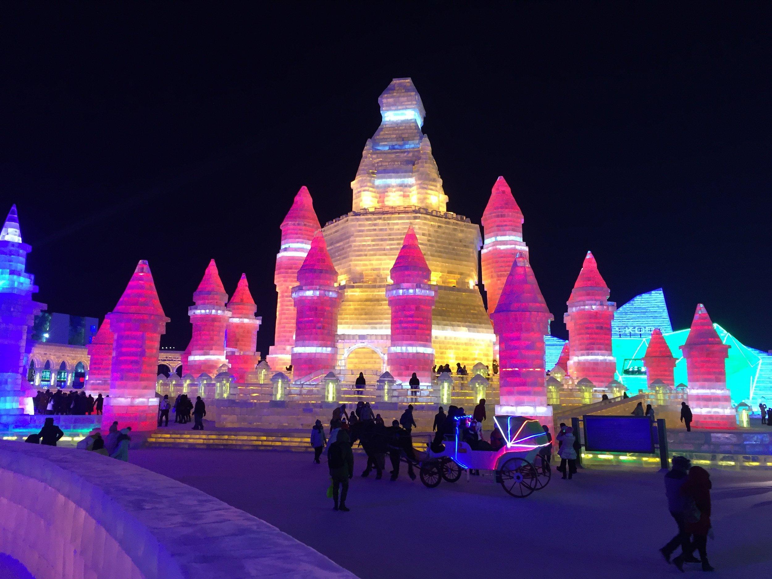 Ice sculptures in Harbin