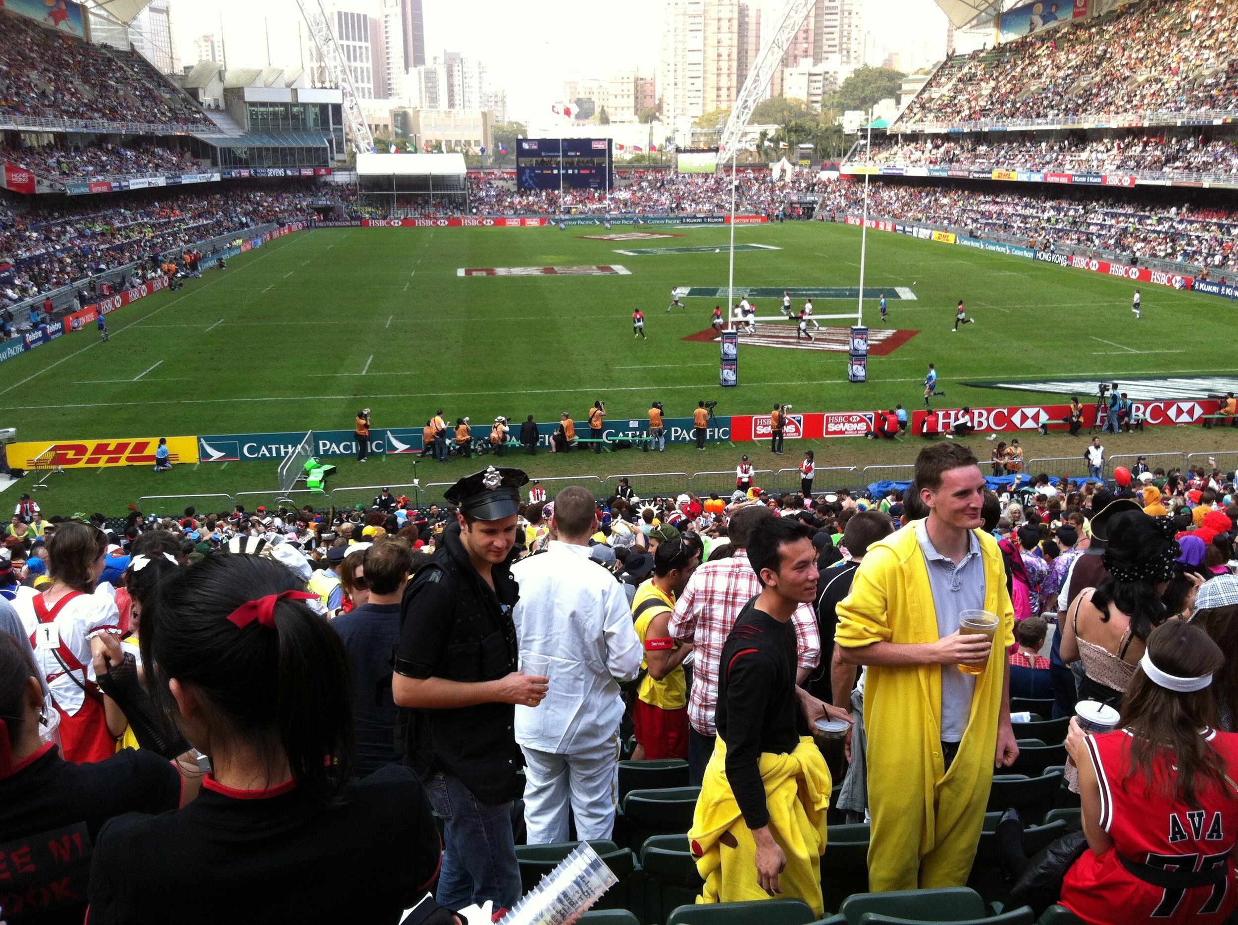 The south stand at the Hong Kong Rugby Sevens