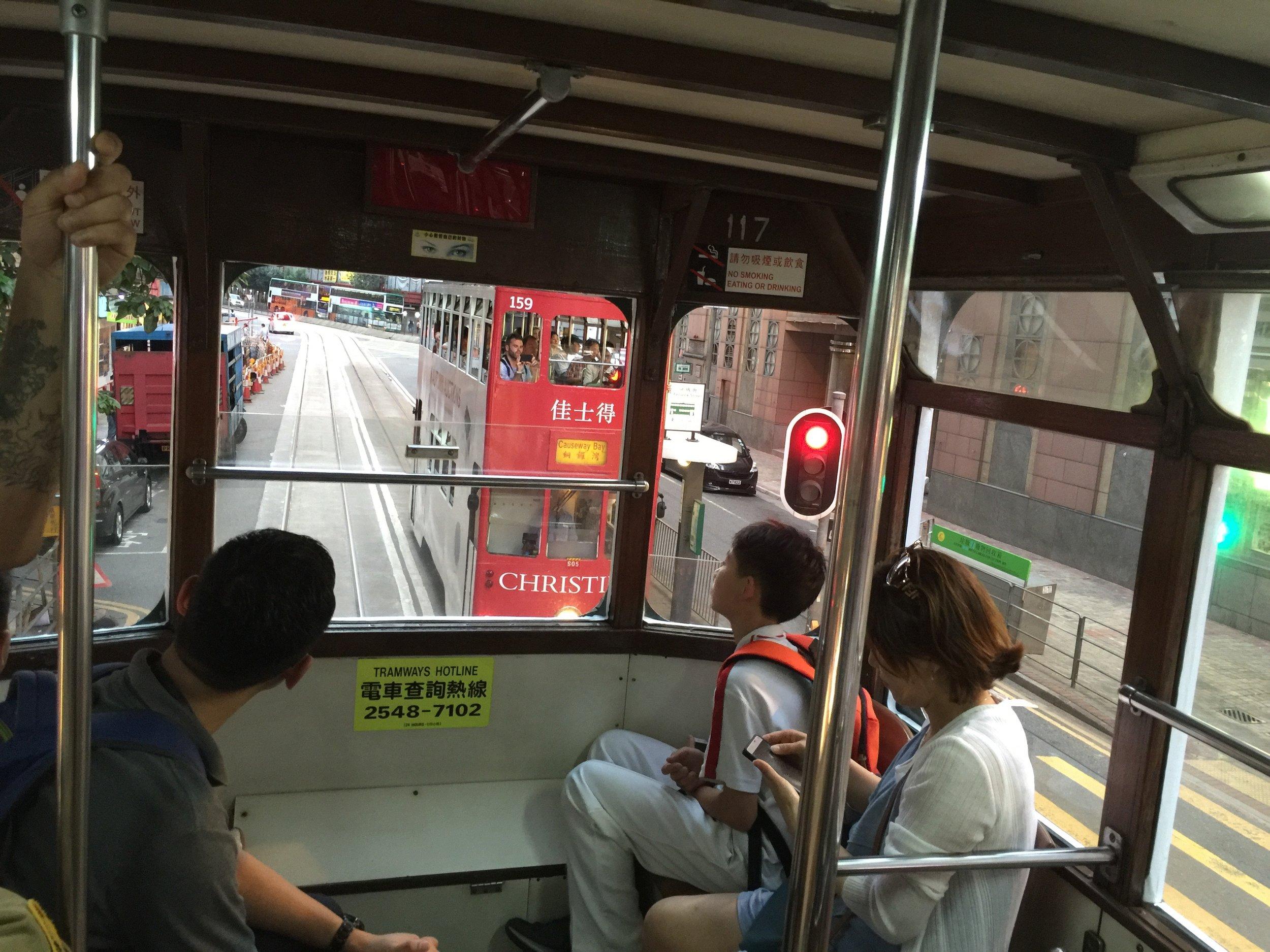 A ride on a Hong Kong tram