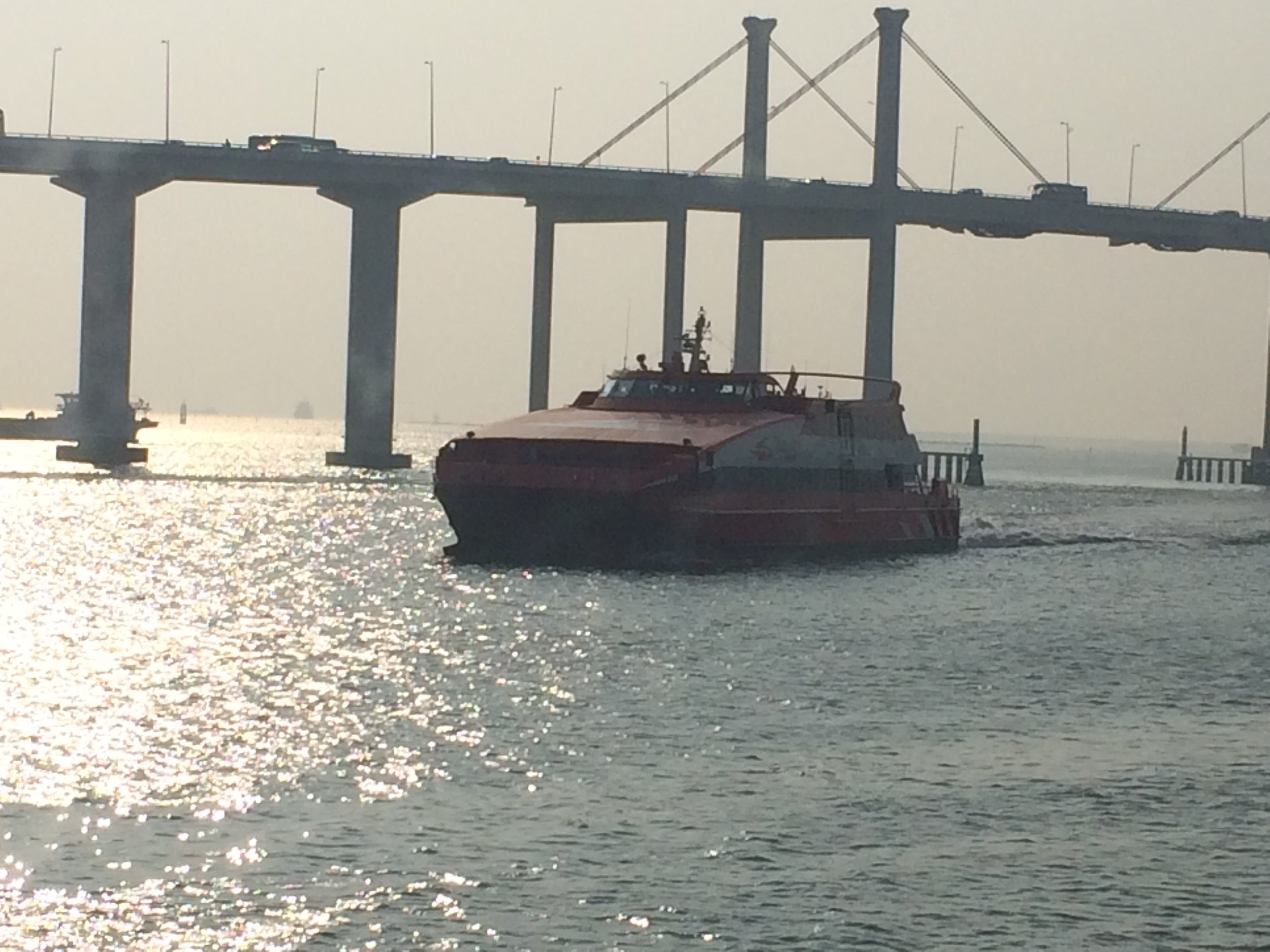 Hong Kong-Macau ferry. Bringing gamblers to the casinos