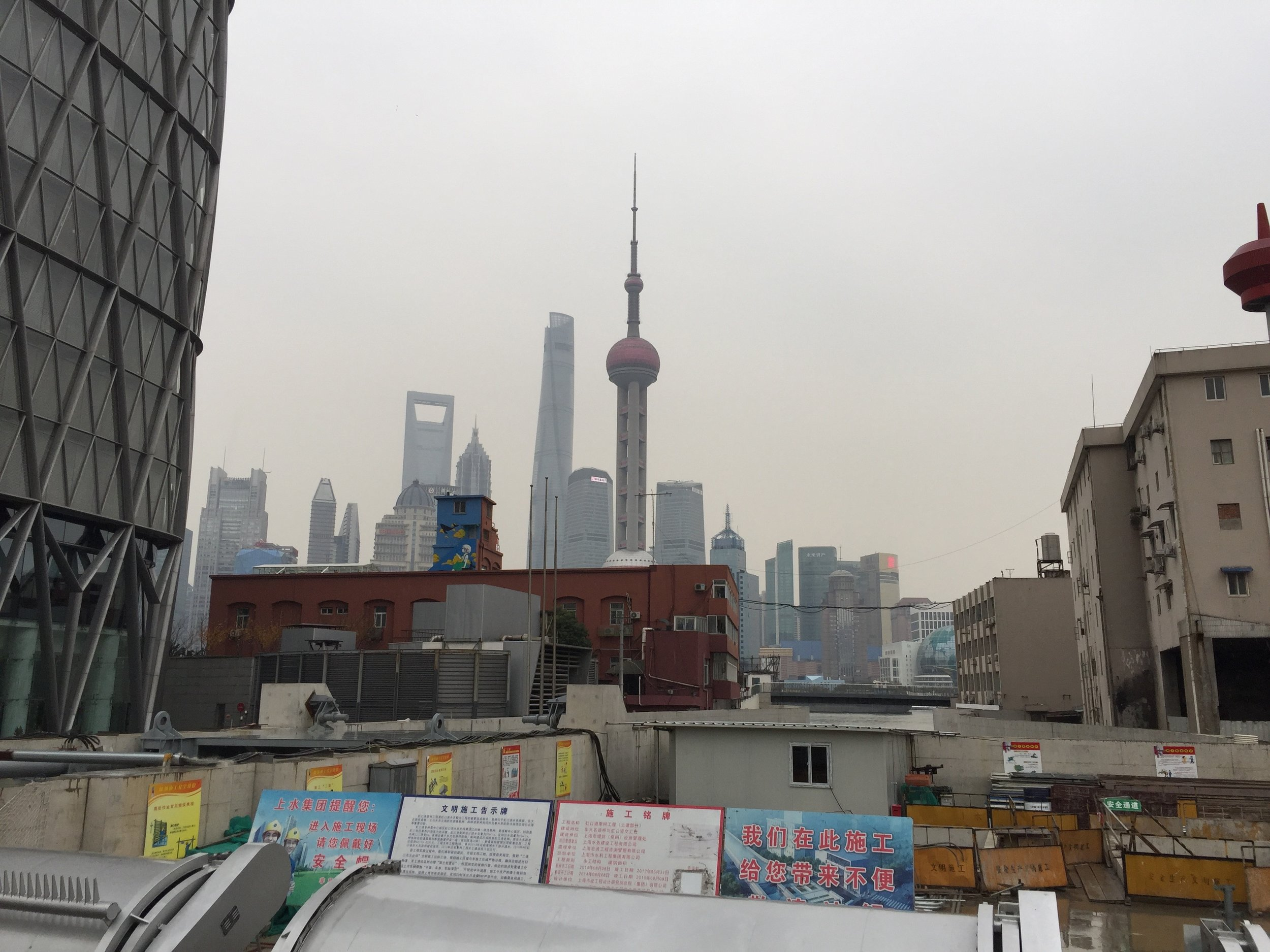 The Pudong financial district as seen from the north Bund