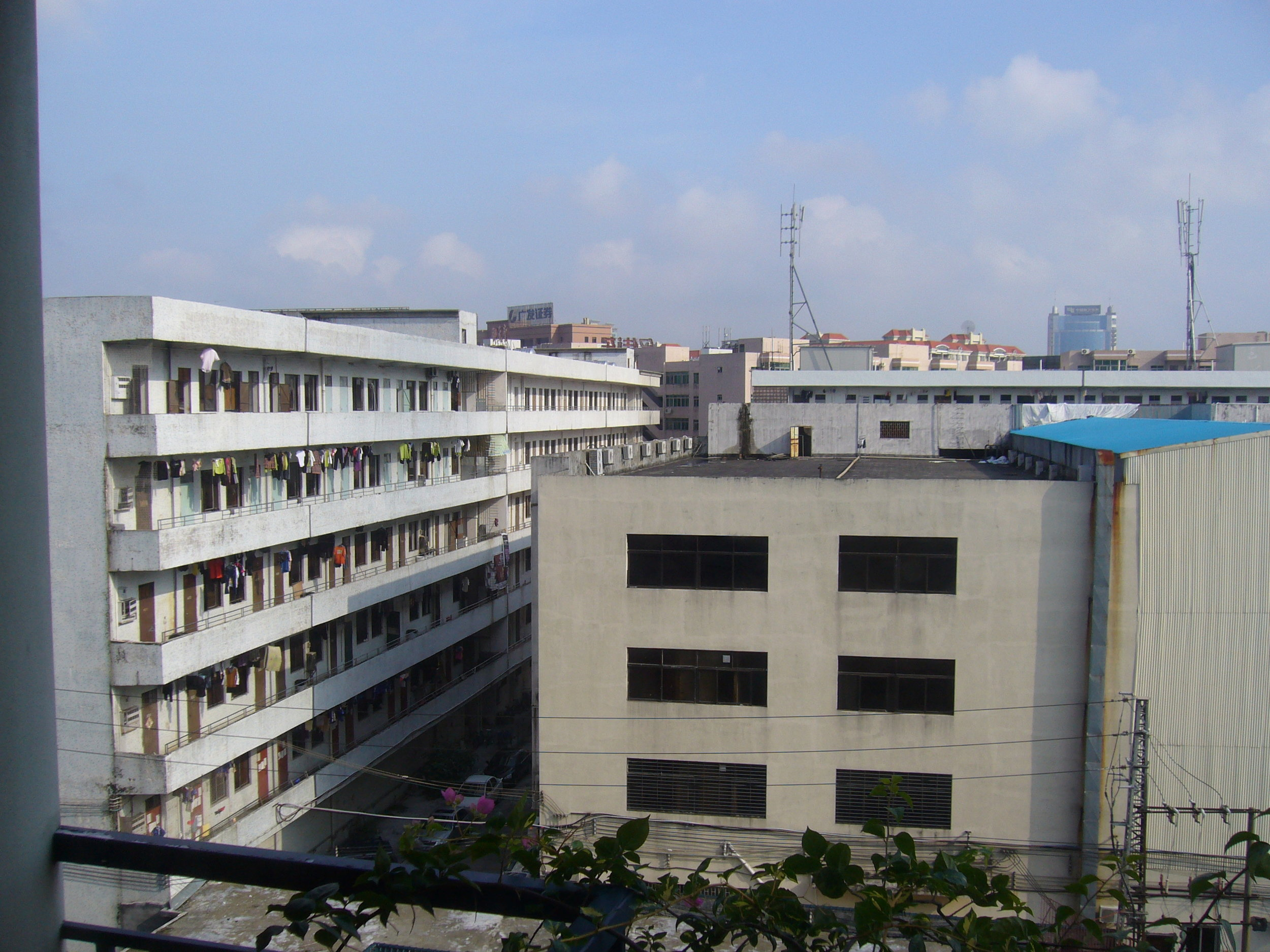 Shenzhen factories and dormitories
