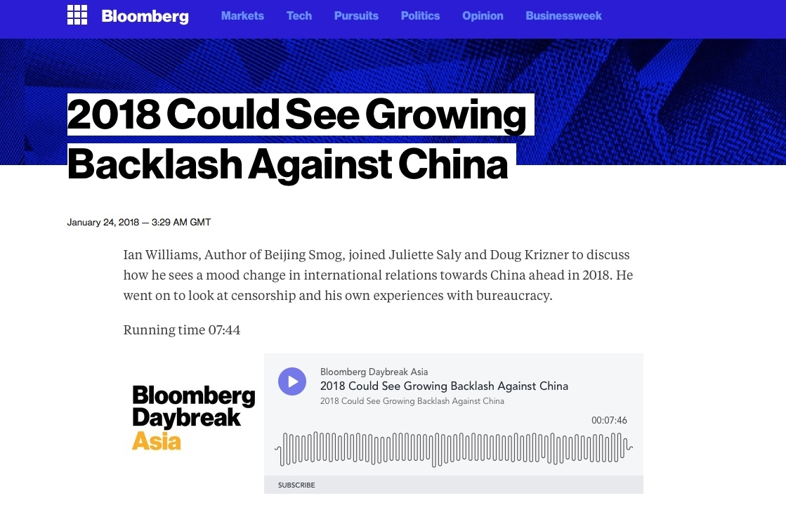 Talking Beijing Smog with Bloomberg Radio from Hong Kong. Click on the image for more.