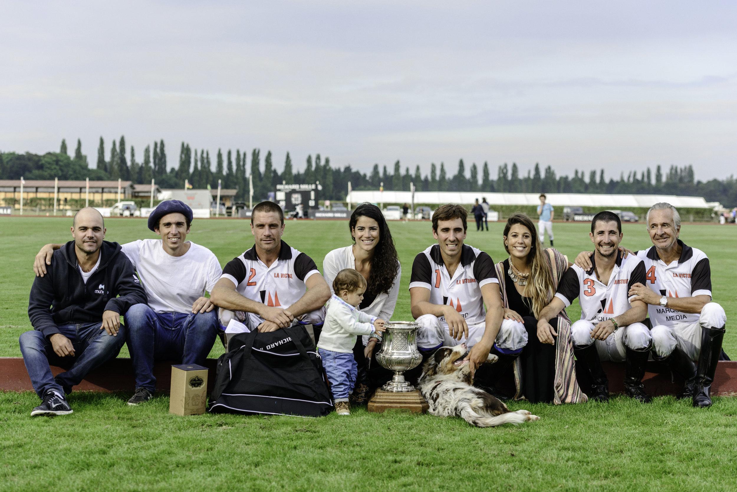 Marquard Media équipe vainqueur de l'Open de France 2016 au Polo Club du Domaine de Chantilly Marquard Media polo team winner of the 2016 Open de France at Chantilly Polo Club