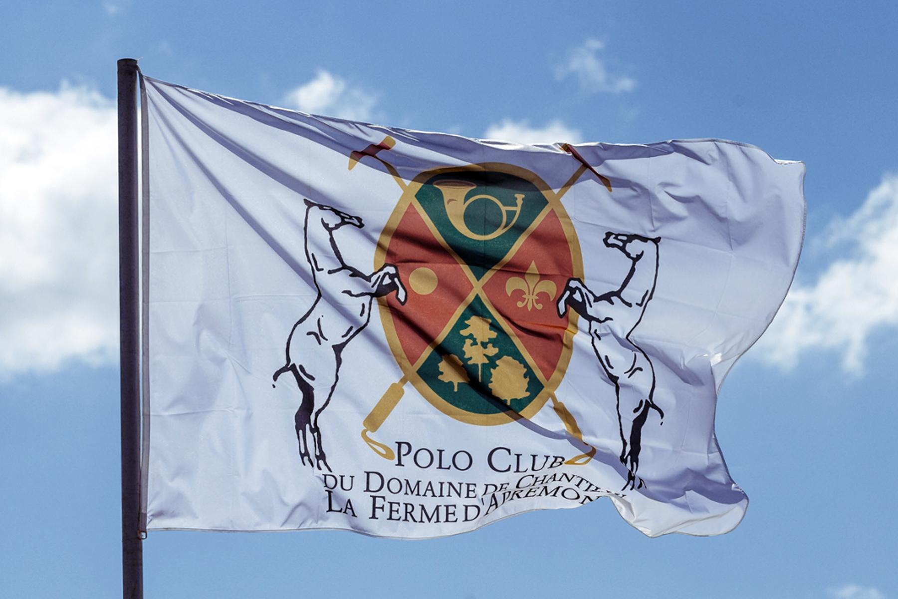 Journée bleue et ensoleillée sur le Polo Club du Domaine de Chantilly Blue and sunny day on Chantilly Polo Club