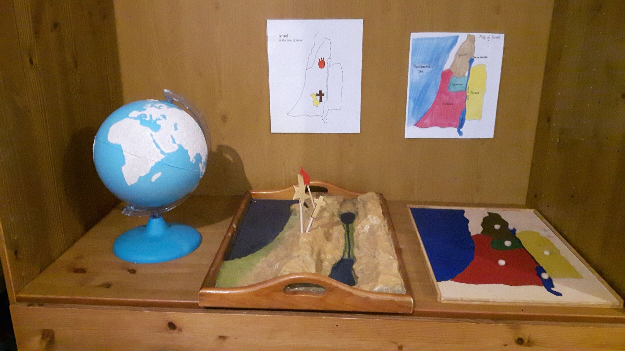 biblical geography (  for ages 3-6- level 1  )