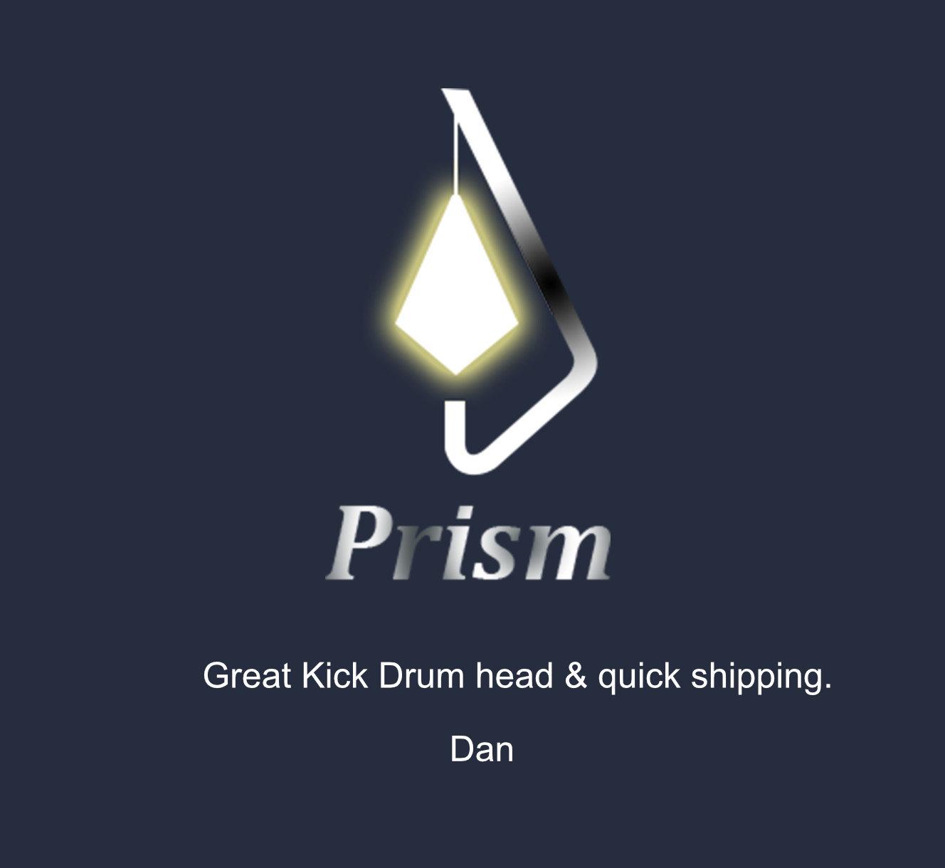 "Prism R/R White 22"" Kick Drum 3Ply Head"