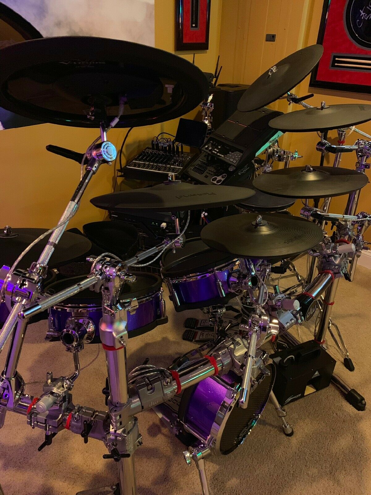 A sweet Roland setup with clean Prism RR 3Ply Heads