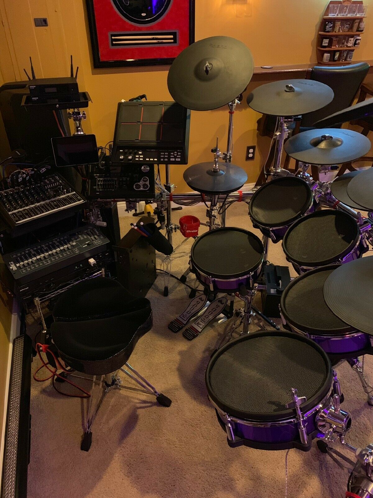 """""""I do like these drum heads. I have my set in a purple sparkle wrap and these make them look fantastic. Lots of compliments."""" - Tony"""