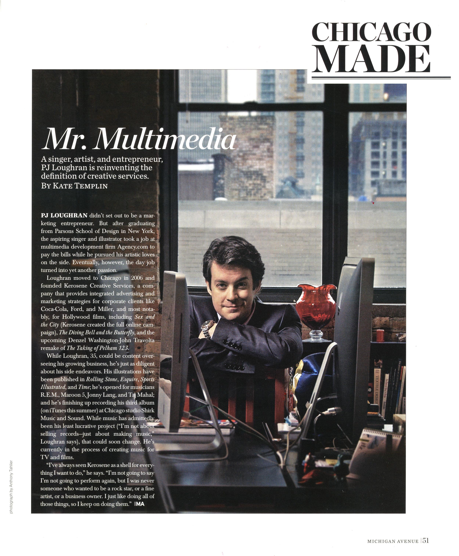 Michigan Ave Magazine feature