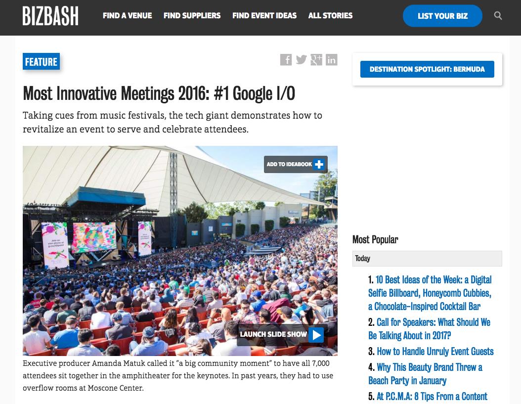 Google I/O, Biz Bash Award