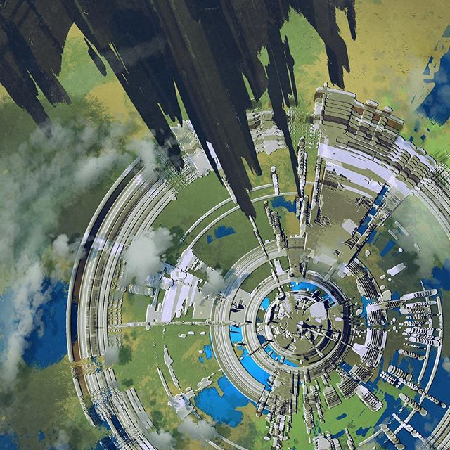 #futuristic #city from above