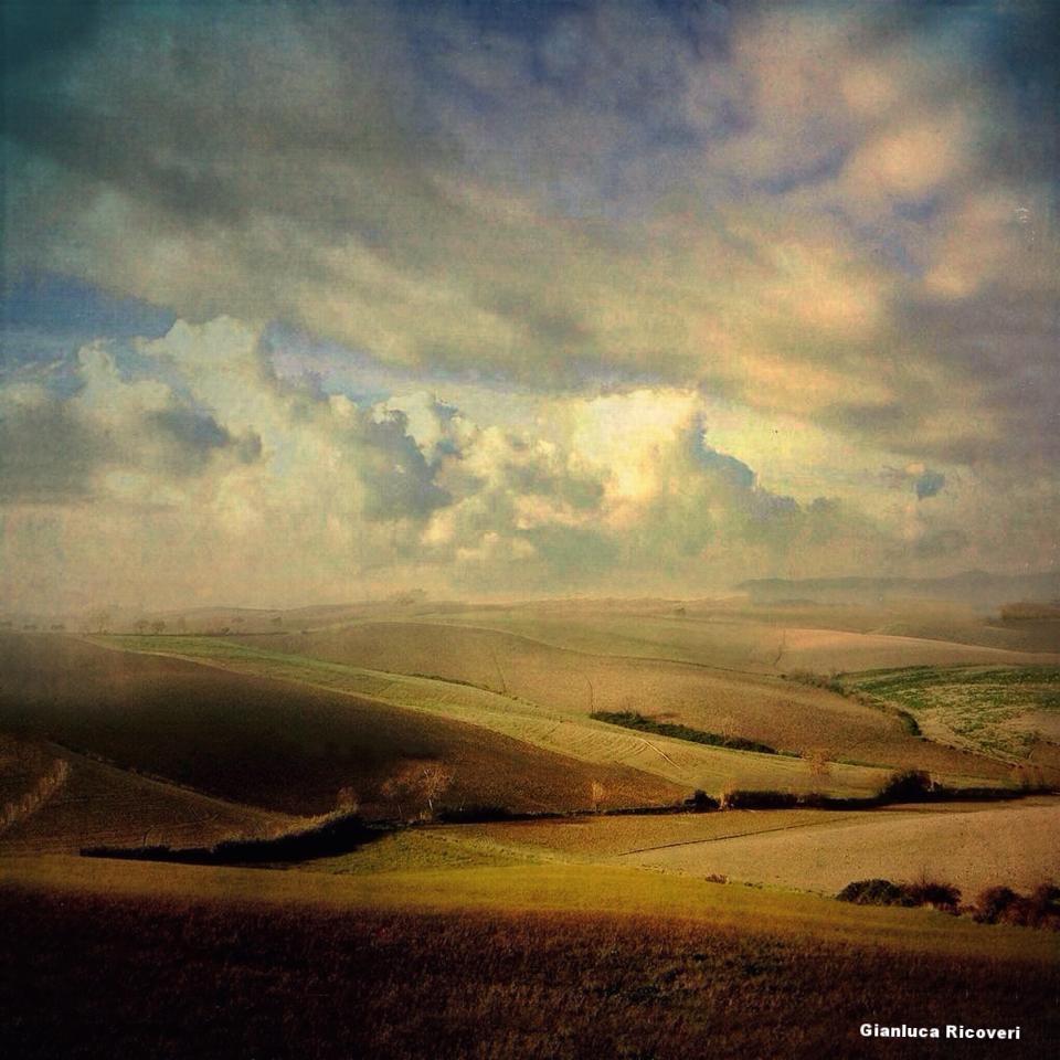 Landscape 587 Harvest in the hills