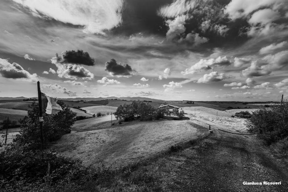 Tuscany's hills in B&W # 06