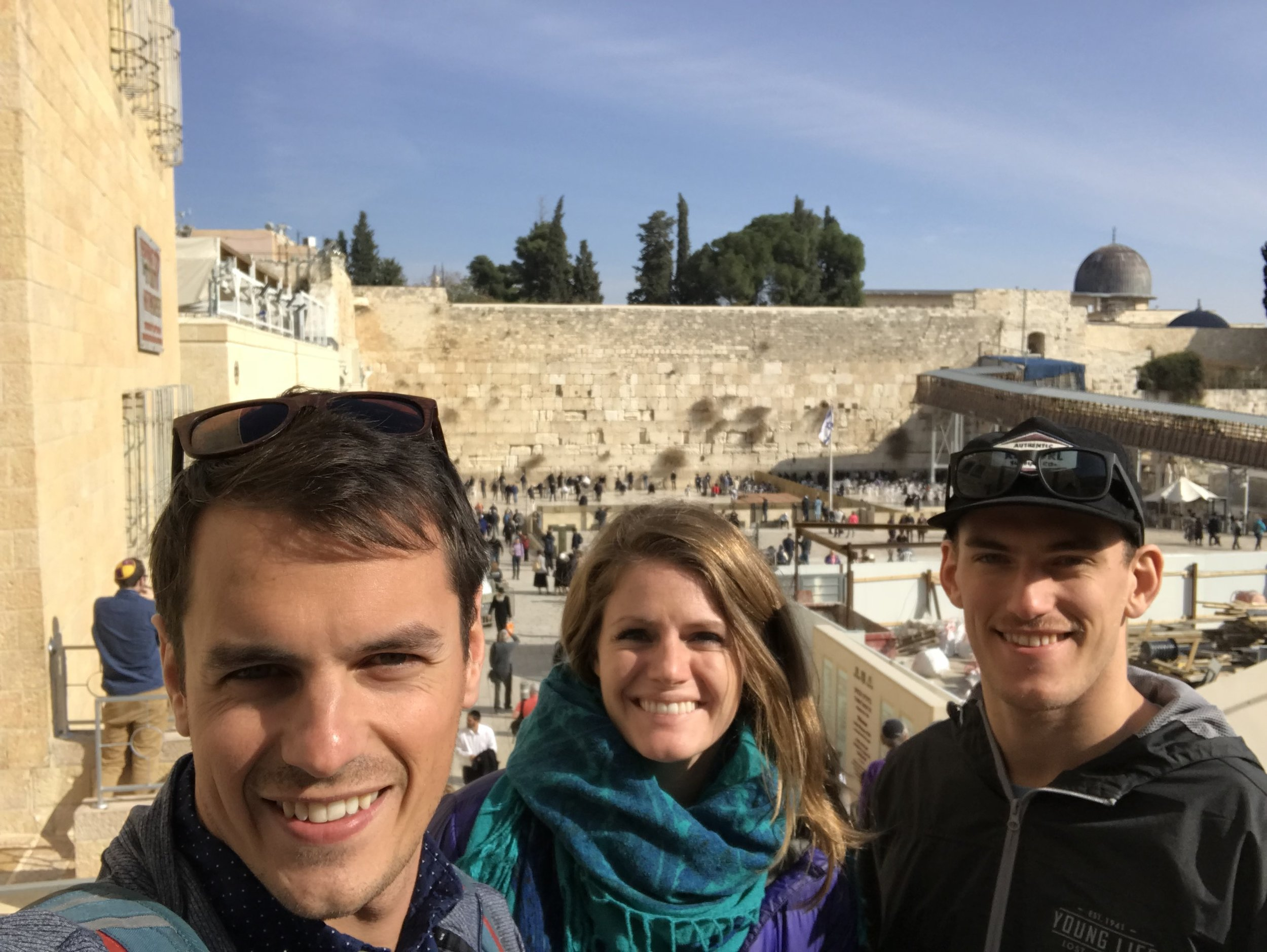 Western Wall is behind us