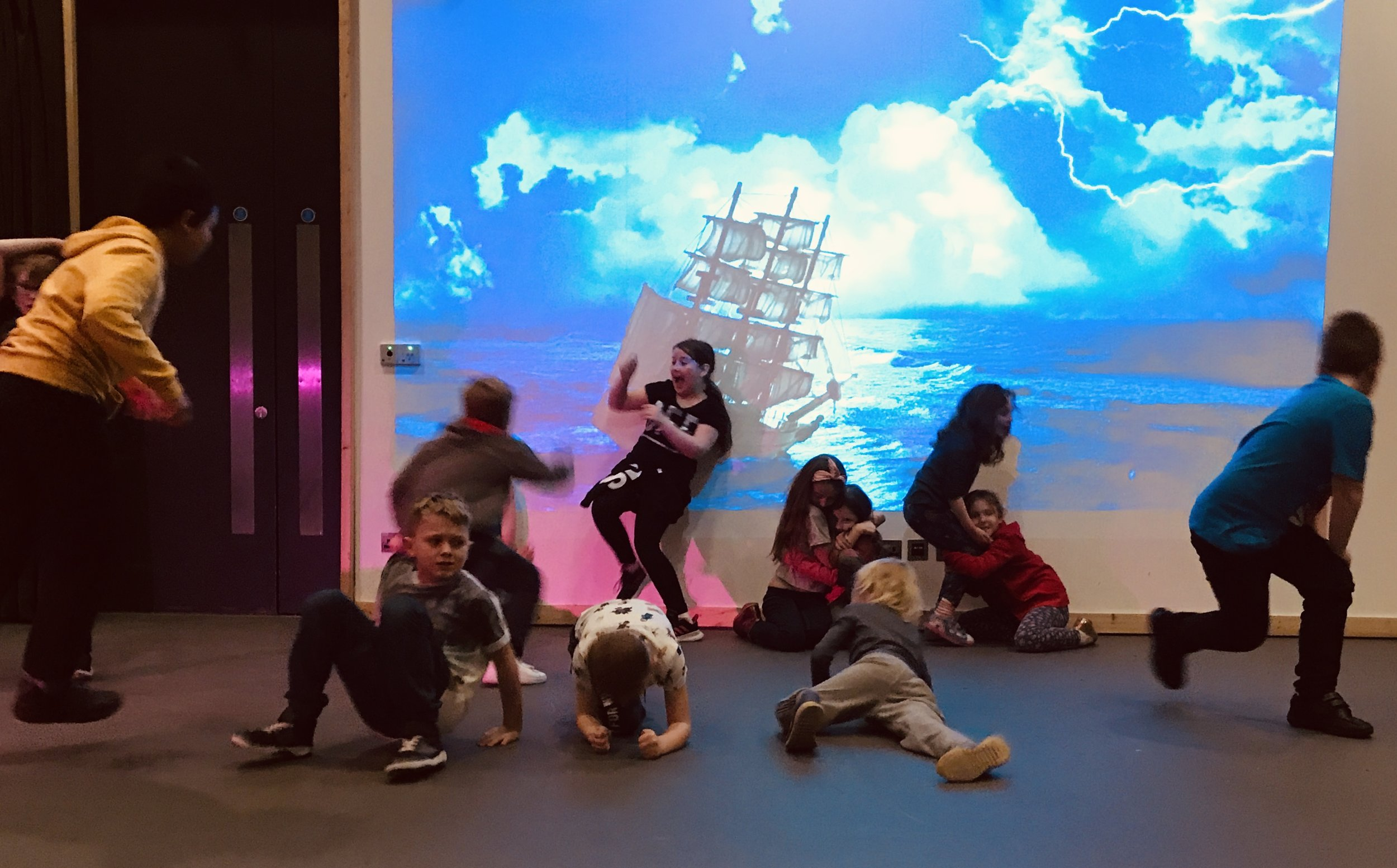 Shipwrecked - A project built around ways of creating action and adventure on stage.