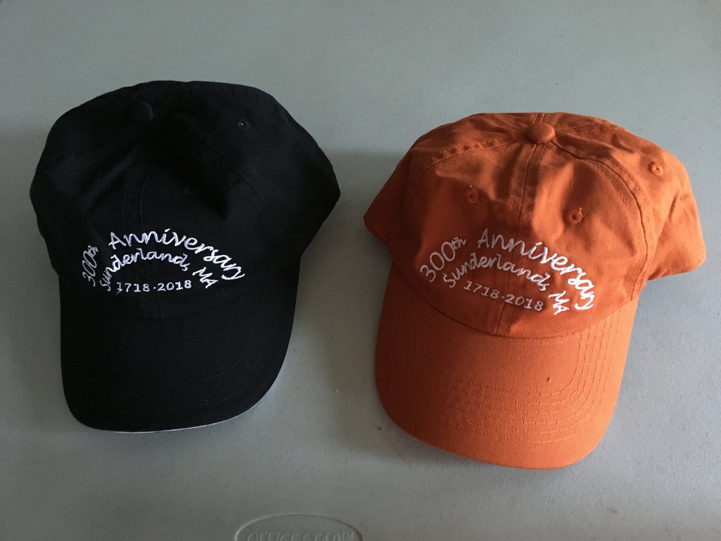 Hats are available for $15.00
