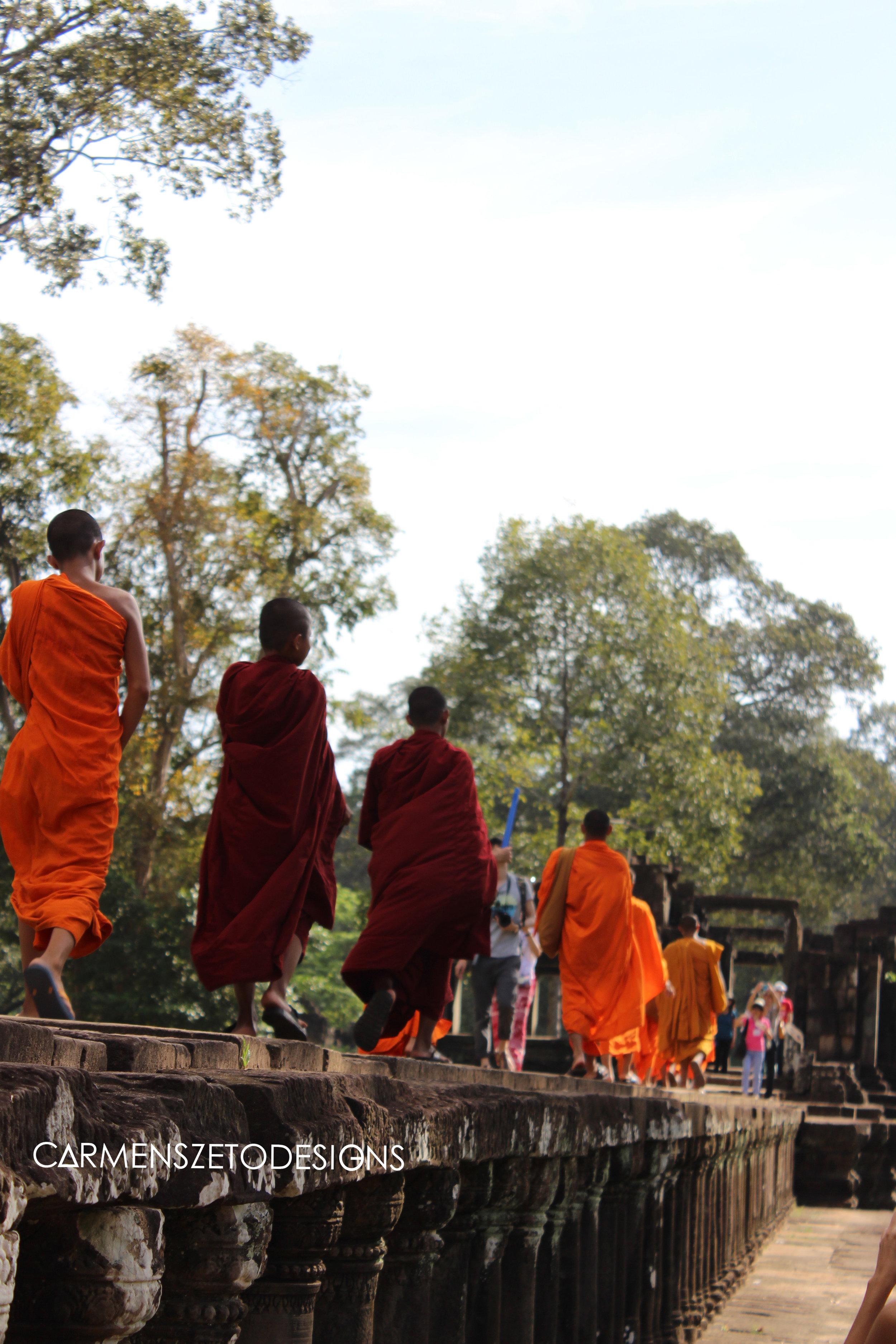 Monks in Angkor Thom, Cambodia