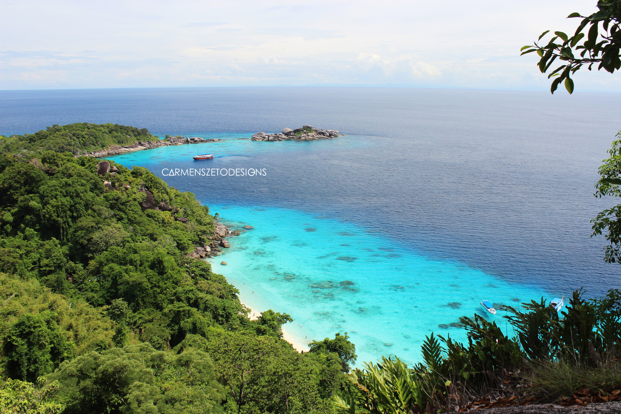 Pristene waters of the Similan Islands