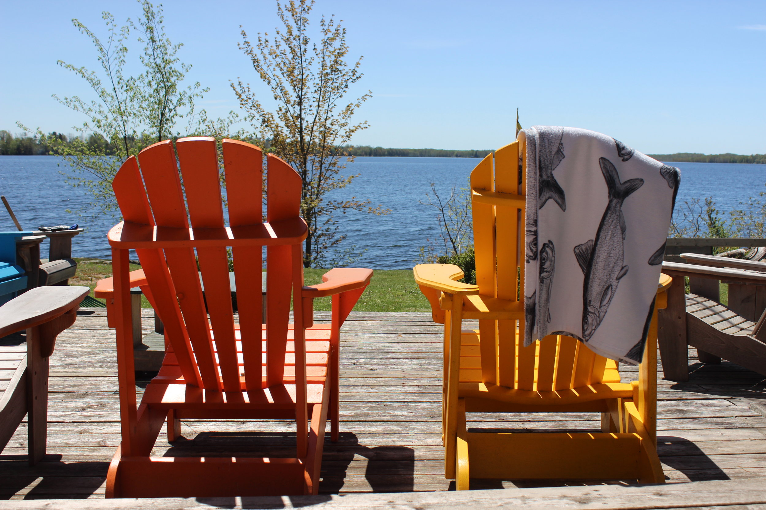 Alewife towel and the classic Canadian Muskoka chair