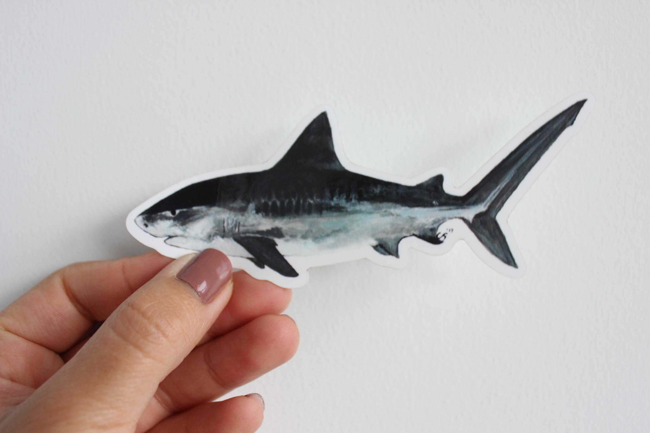 Tiger Shark Sticker/Magnet