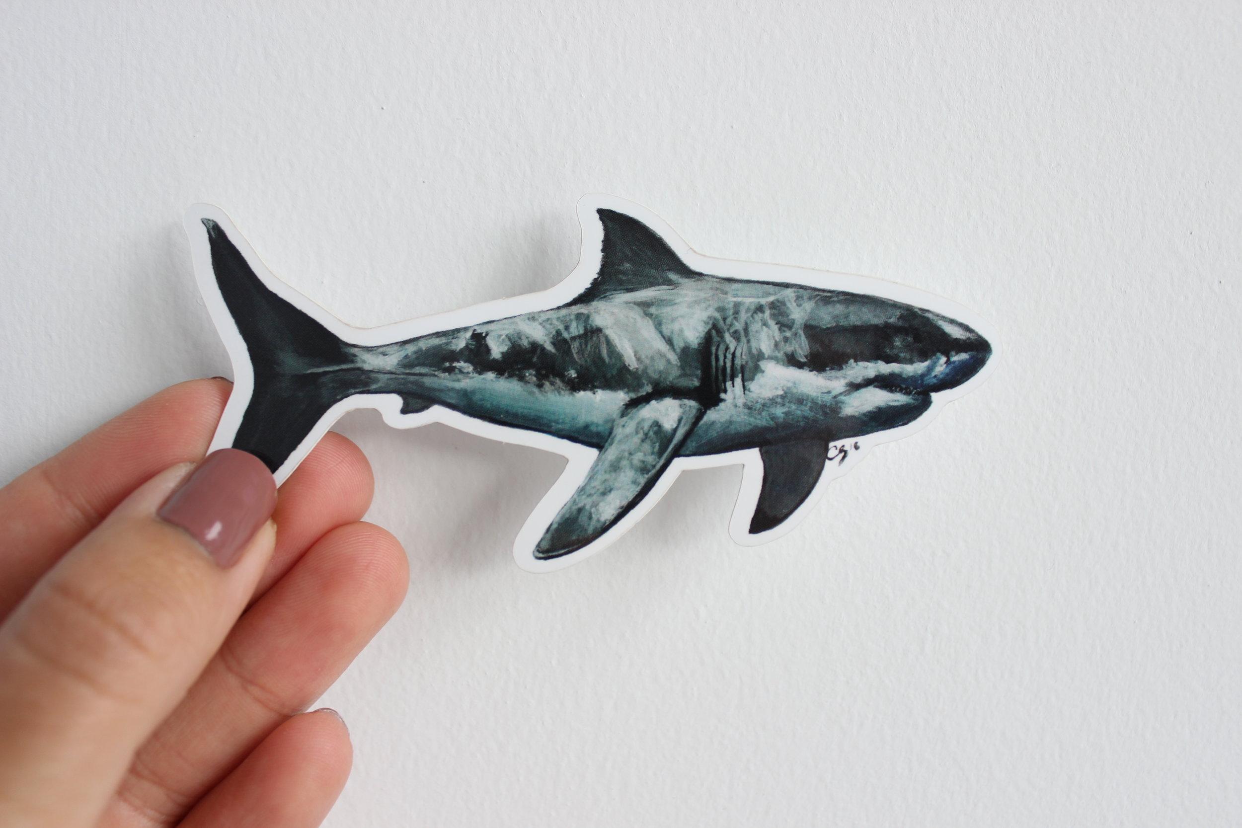Great White Shark Sticker/Magnet