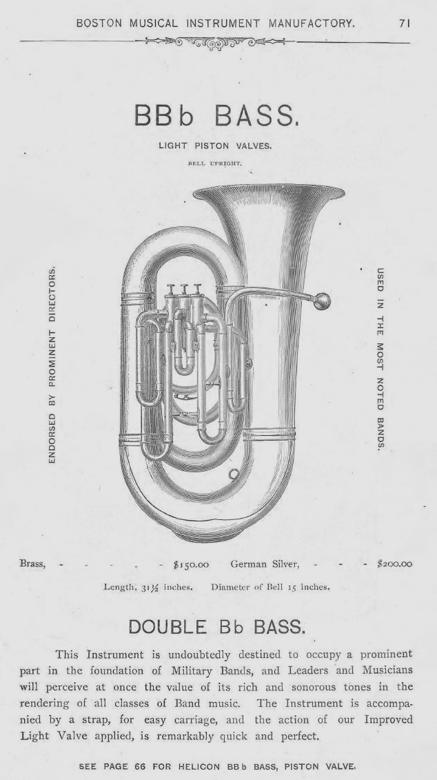 Early BBb Tubas in the US