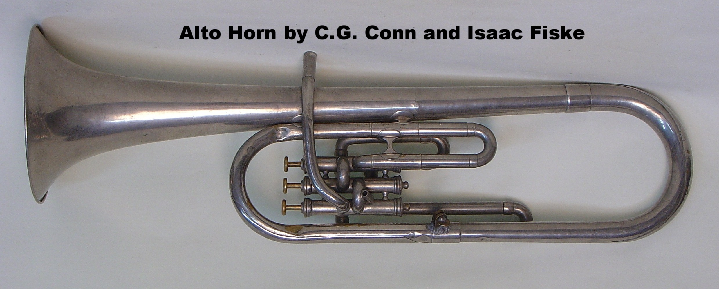 Alto Horn by C.G. Conn and Isaac Fiske
