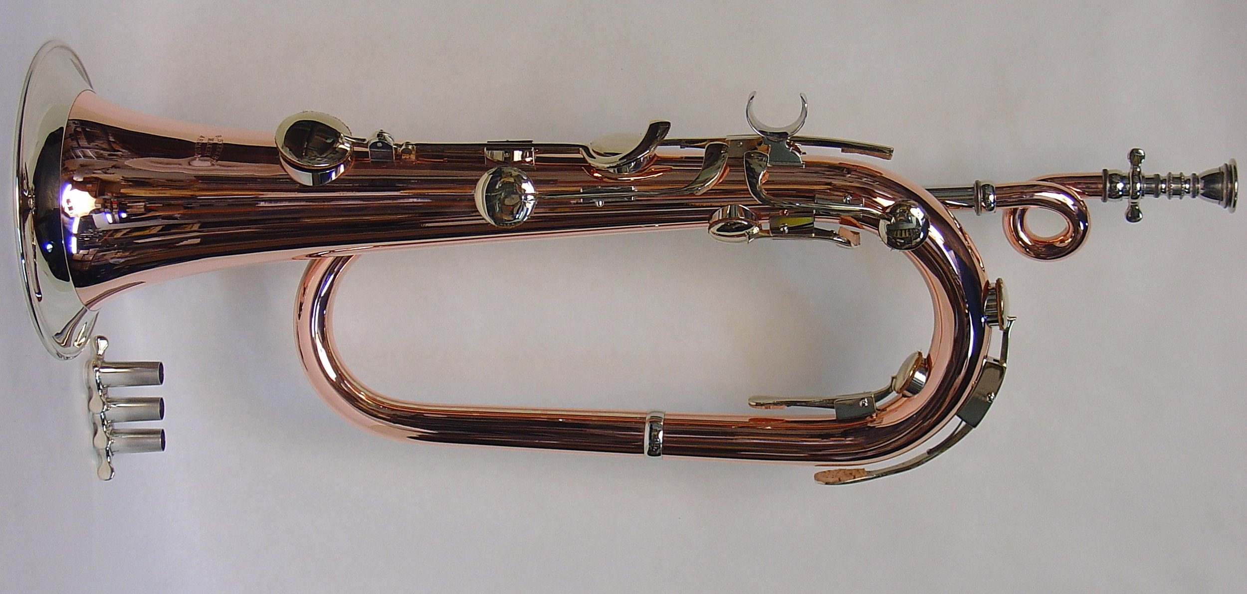 Bb Keyed Bugle, Copper and Nickel