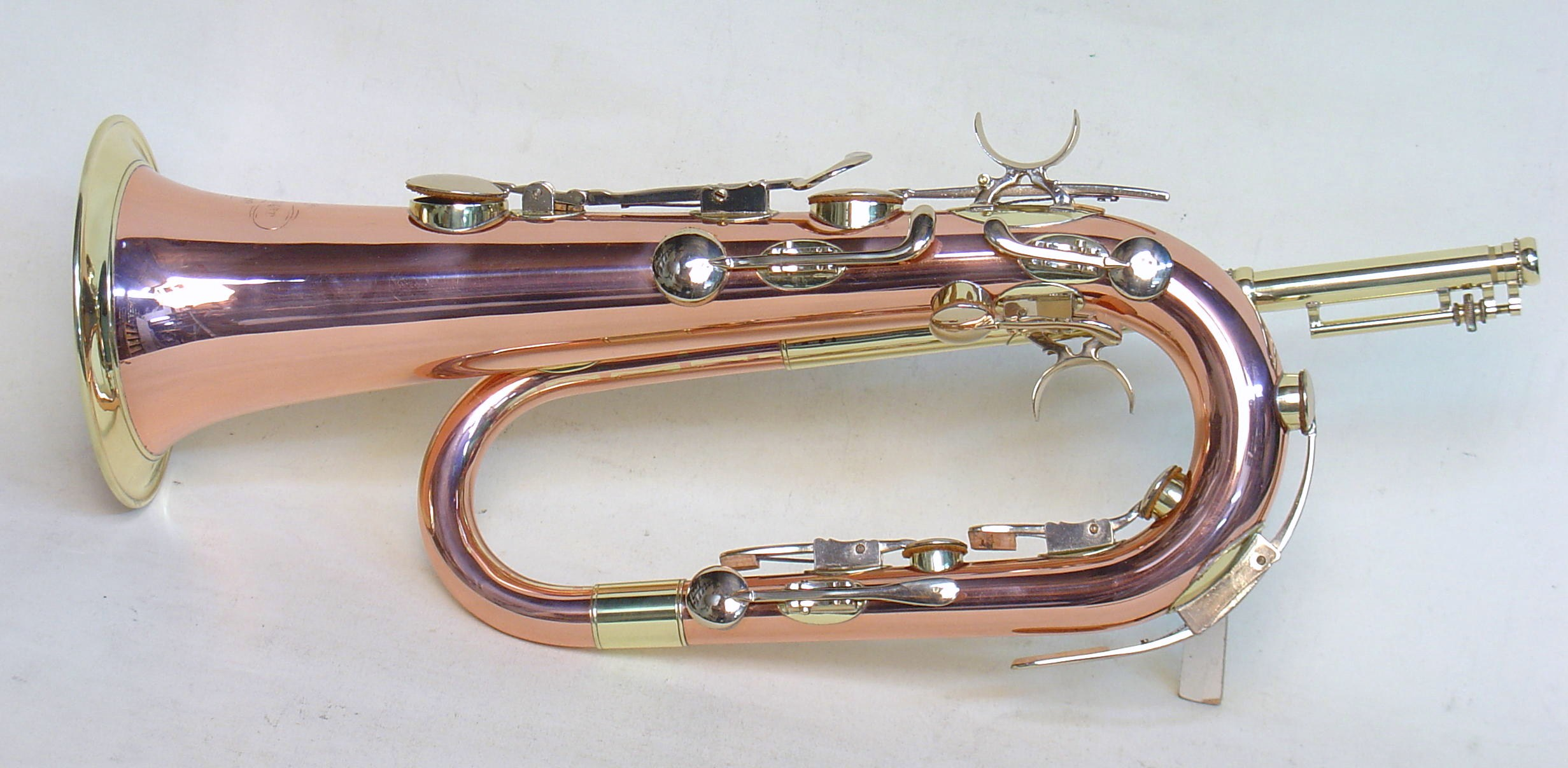 Eb Keyed Bugle, Copper and Brass
