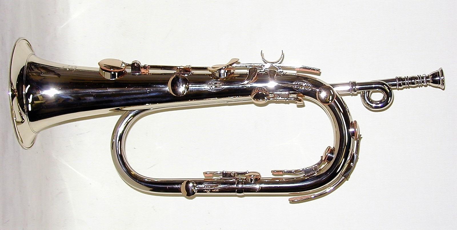 Bb Keyed Bugle, Solid NIckel Silver