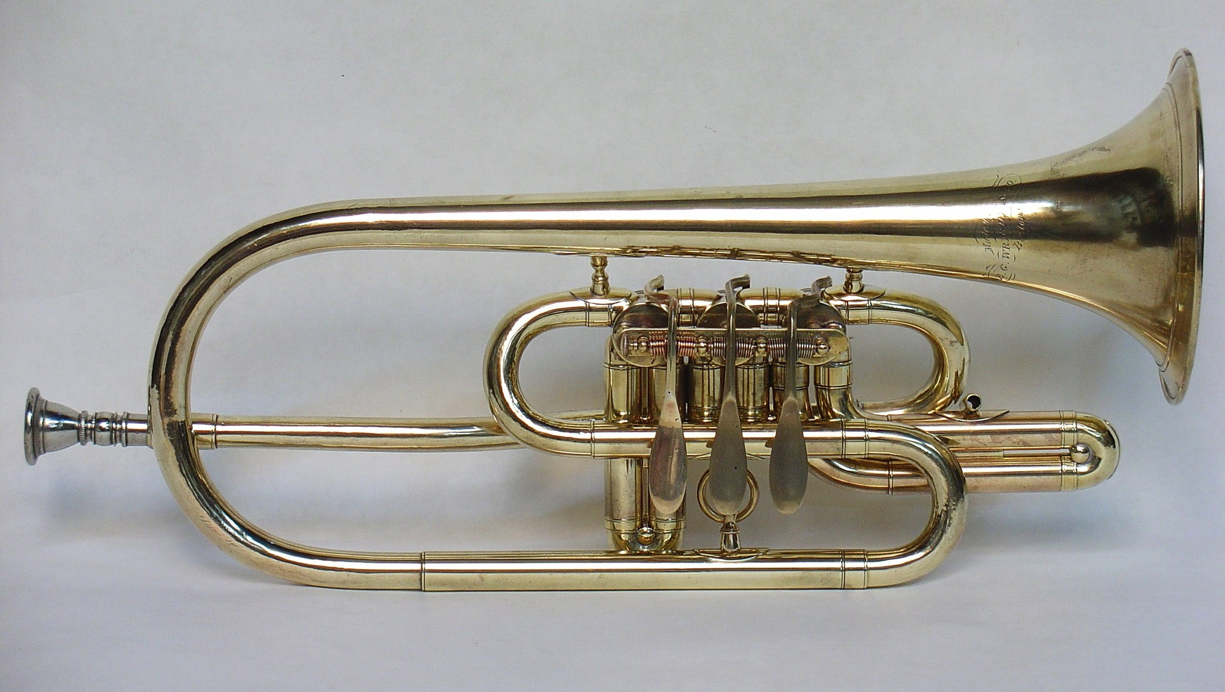Early Bb Cornet with Side Action