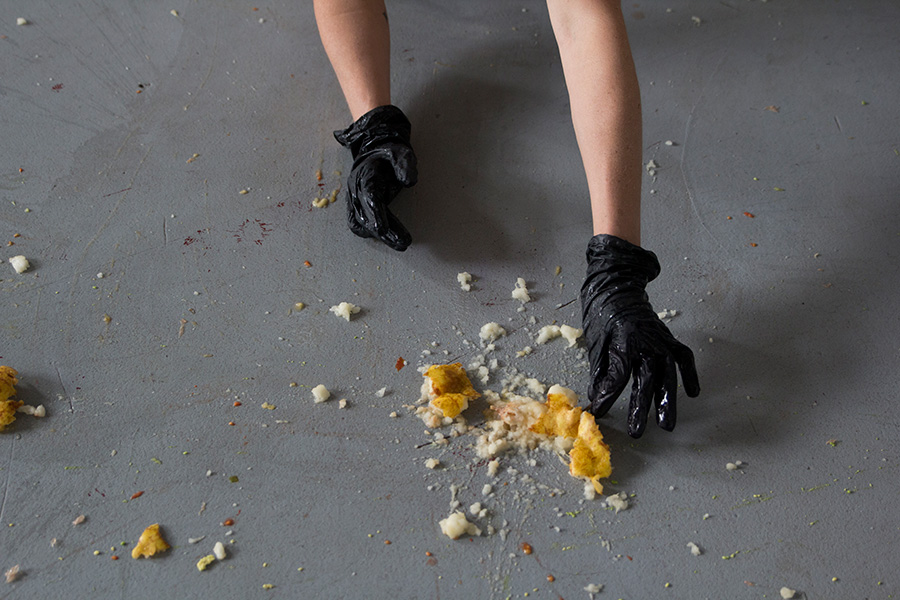 The Divers. Performance and Installation. 2015. Detail of video by Jaimie Henthorn