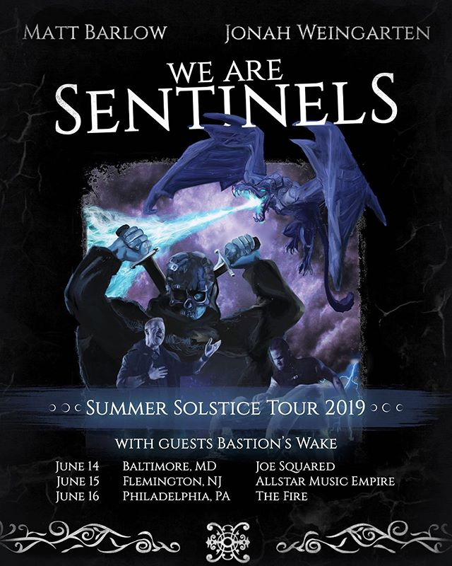 The 2019 Summer Solstice Tour is almost upon us! Snag your tickets on our website at www.wearesentinels.com ✨ #wearesentinels #mattbarlow #JonahWeingarten #metal #cinematic #vocals #vocalist #singer #duo #singers #gameofthrones #piano #ballad #instrumental #orchestra #music #epicmusic #MatthewBarlow #piano #pianist #orchestration #IcedEarth #Pyramaze #AshesOfAres #rockvocalist #metalvocalist #metalkeyboardist #filmscore