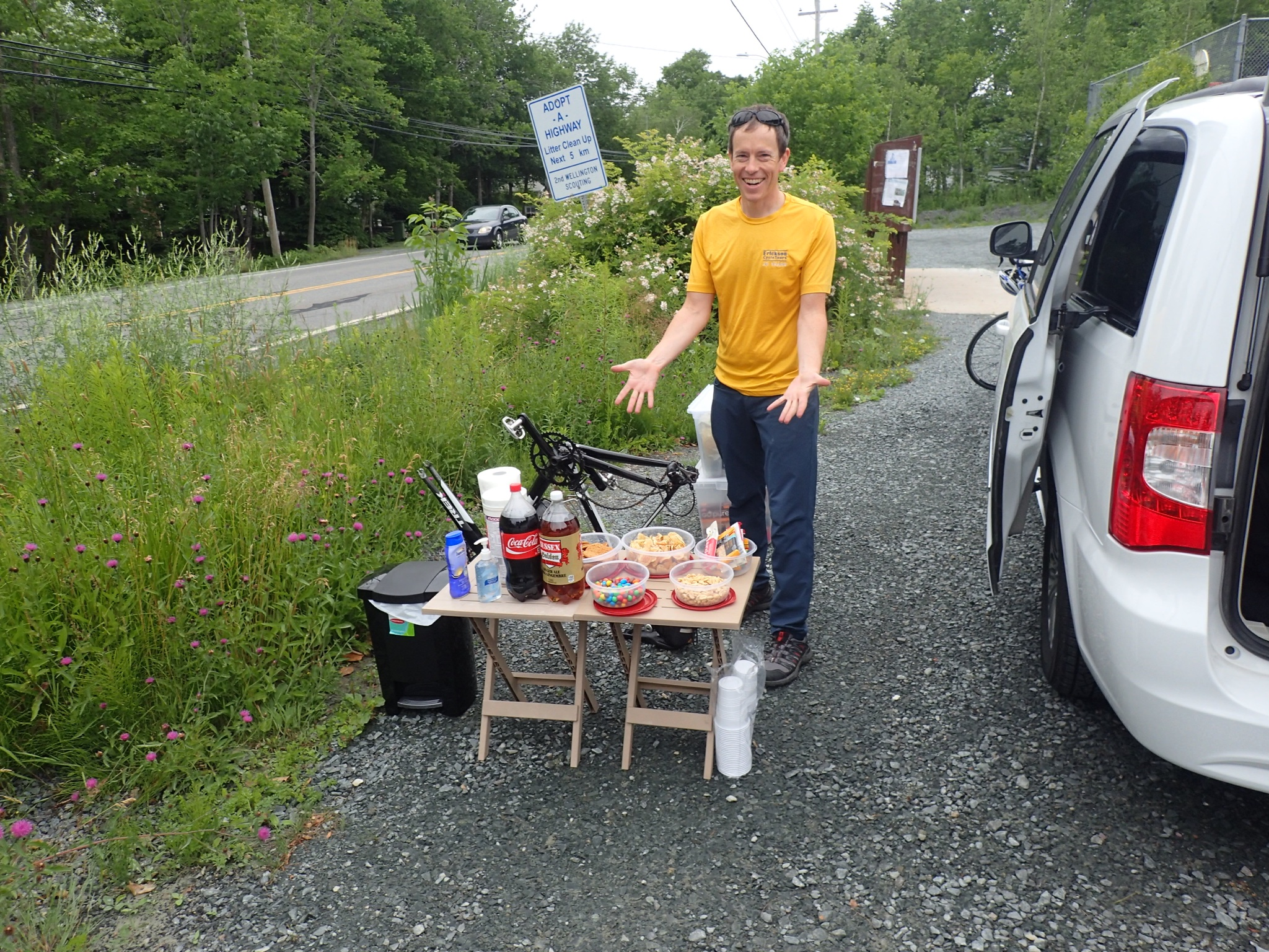 More of My life than I care to admit has been spent hanging out with snacks at the side of a road, waiting for cyclists to show up. (Photo: Howard Weeks)