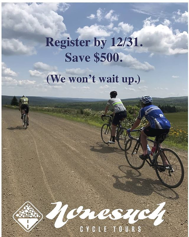 The wedding-adjusted November special is now a December special. You're welcome.  #gravelgrinder  #gravelbike  #gravelcyclist #roadbike #roadslikethese #travelbybike  #novascotia
