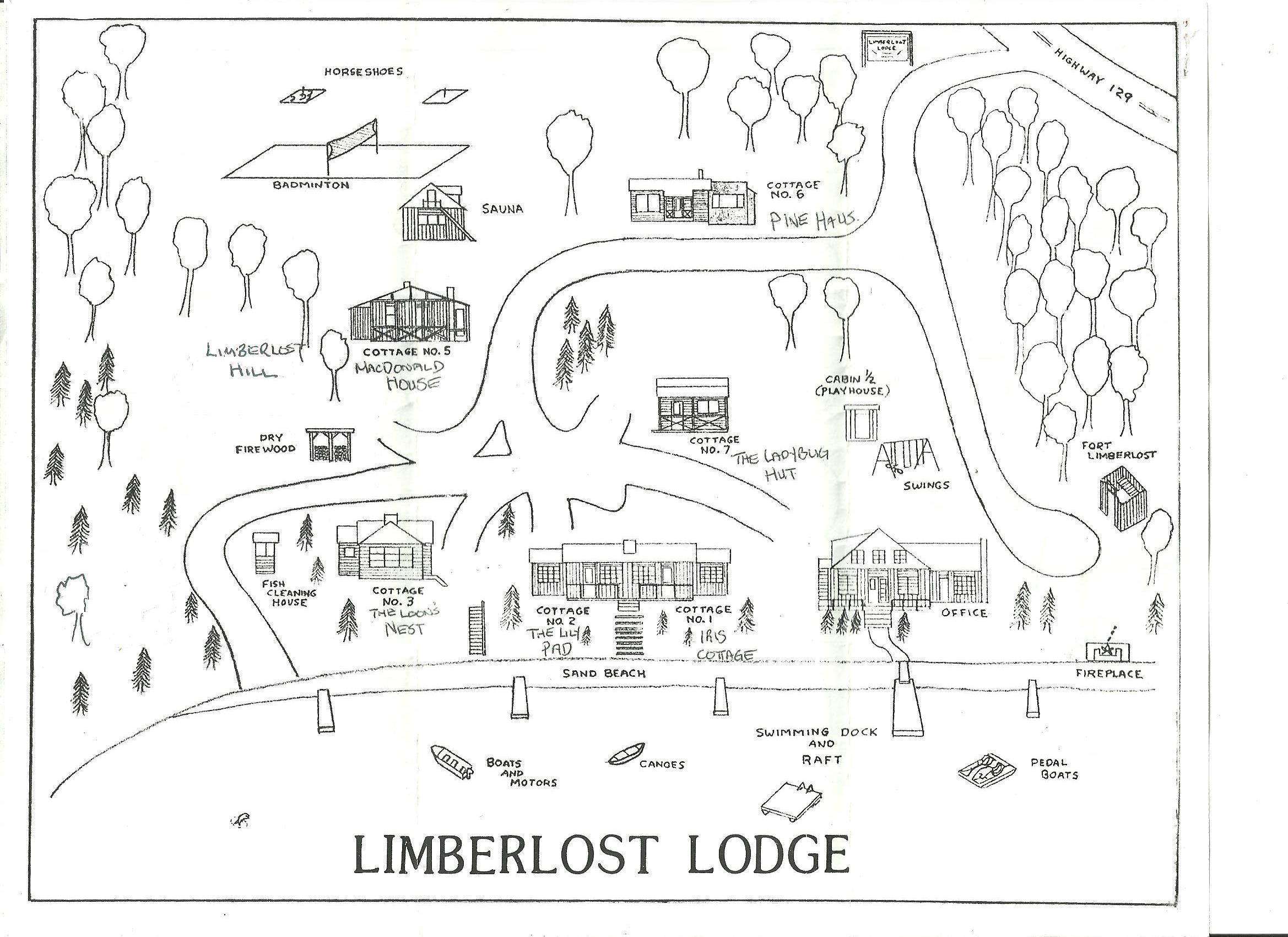 Limberlost Lodge Facility Map