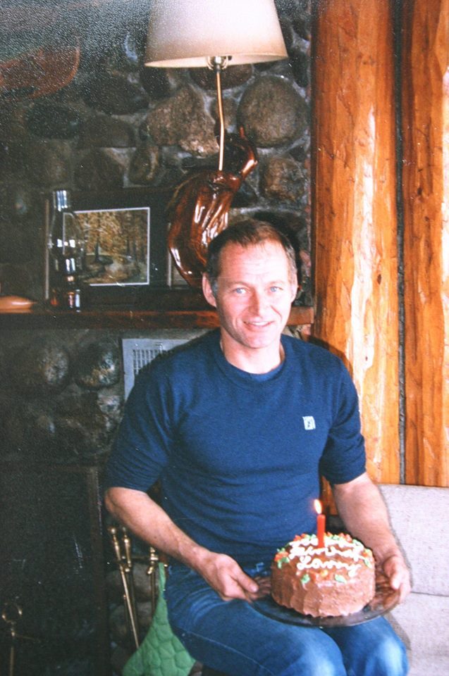 Larry Kissau celebrating his 42nd birthday at home... the place he loved so whole-heatedly.