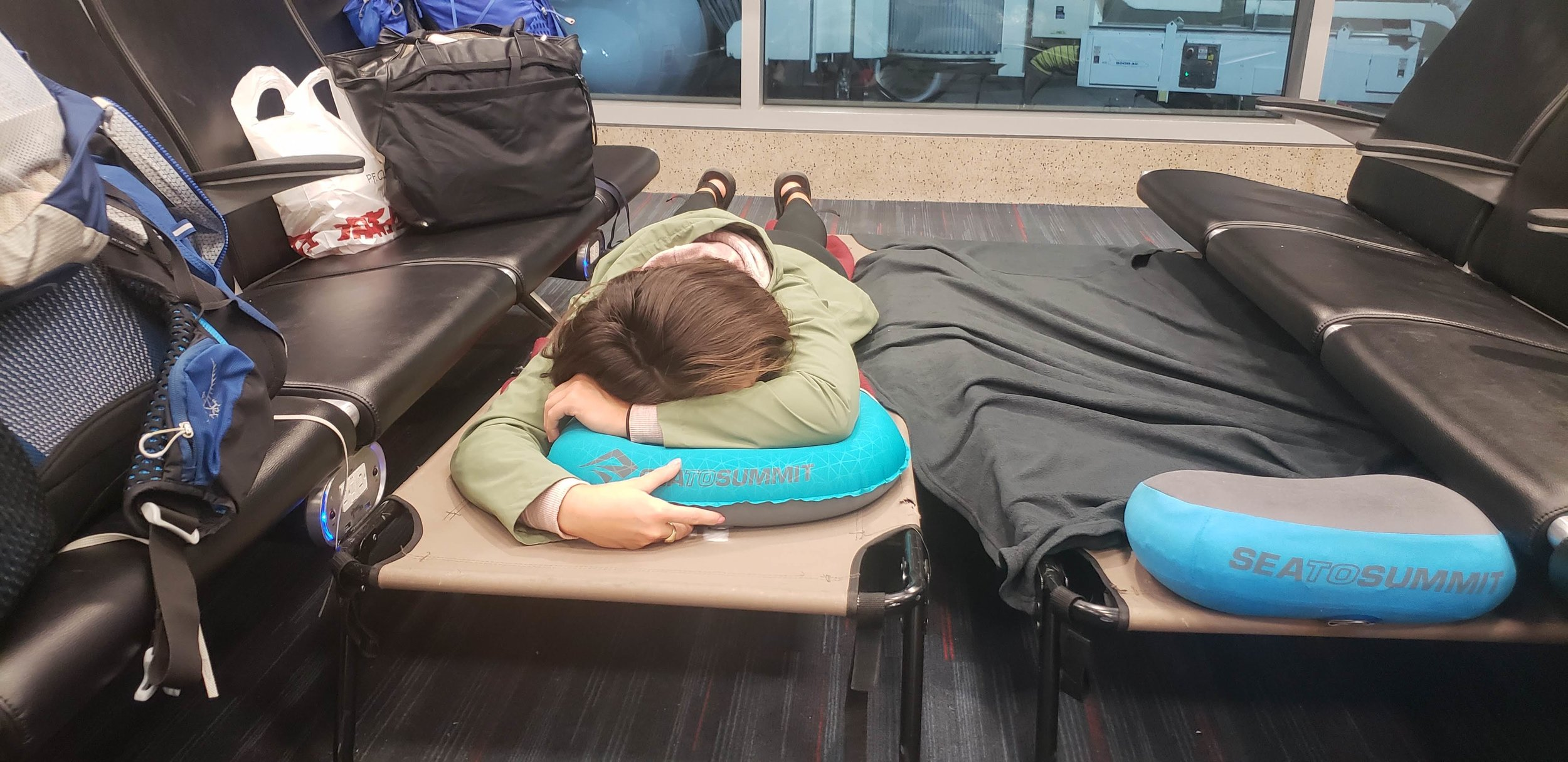 Traveling with hiking bags and camp pillows make travel easy