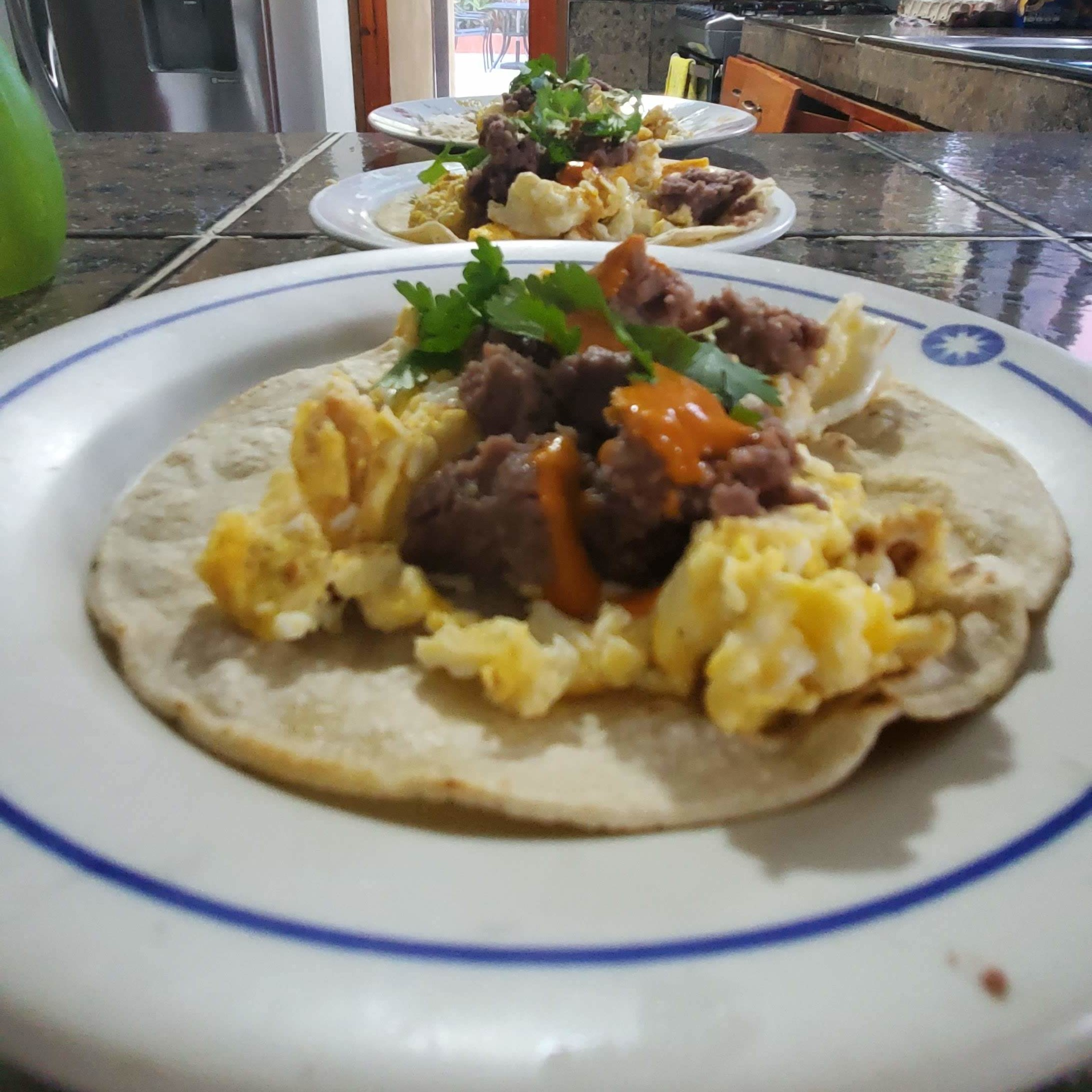 Air BnB breakfast tacos