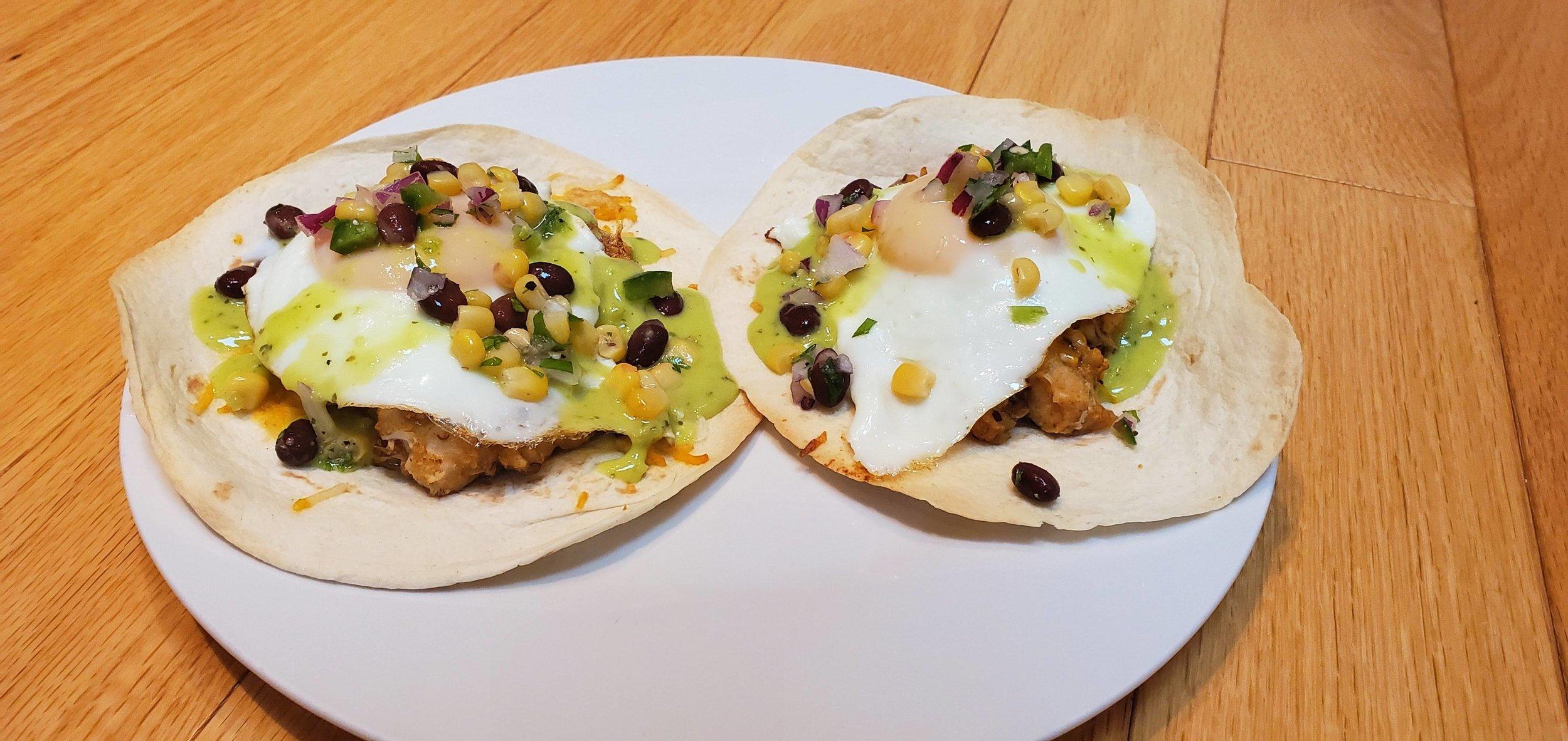 Breakfast Chicken Tacos