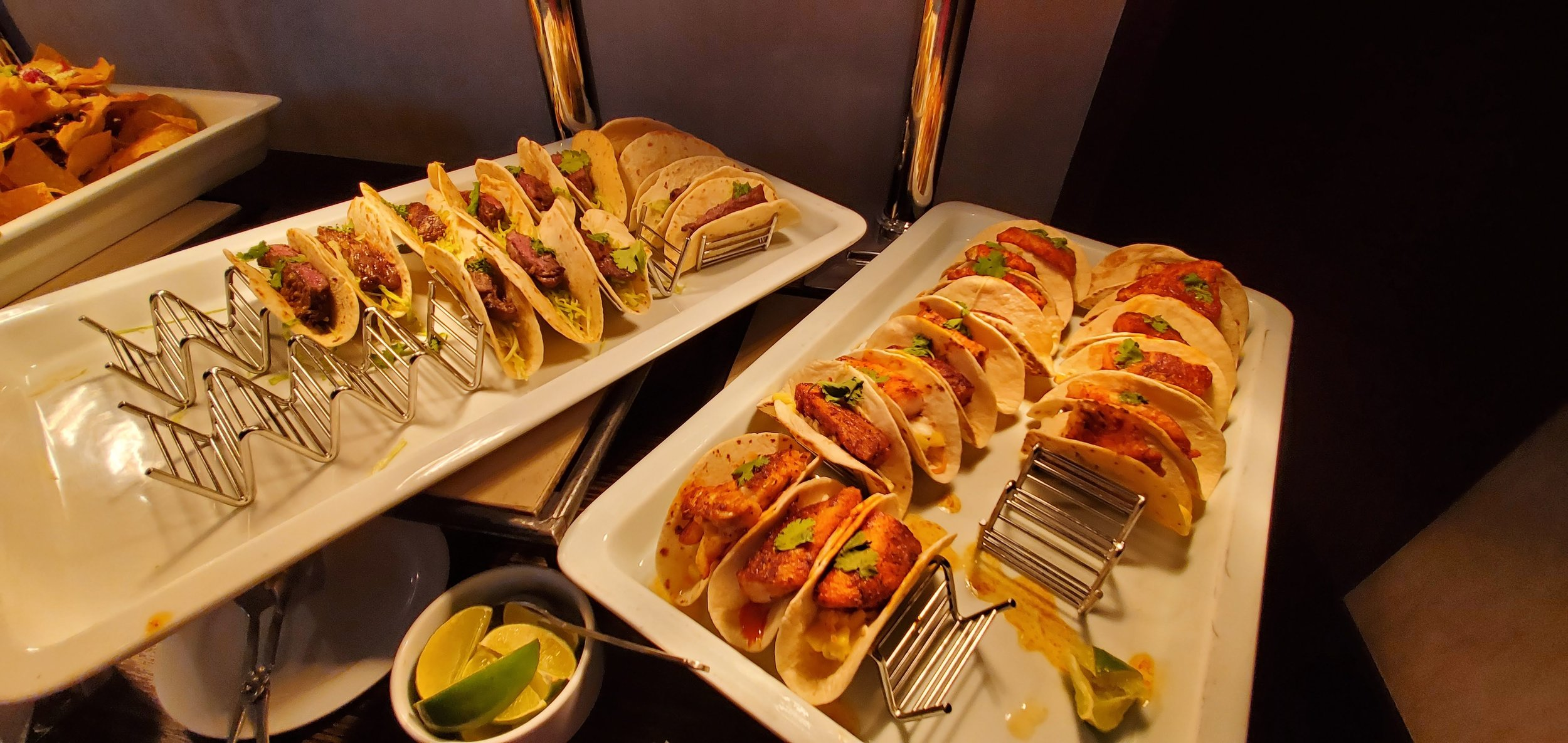 Steak tacos, fish tacos, calimari, wings…. too much to capture in one picture