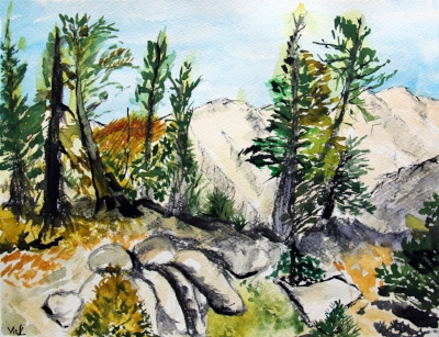 """""""Stephanie's concern and respect for her students is outstanding and has given me the confidence to say, """"I love exploring watercolor painting!"""" and to accept my results without judgement.  - Janet Pinedo, BCS Student + Art Business Owner"""