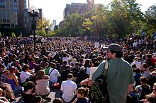 Occupy Wall Street, Washington Square Park, October 8, 2011