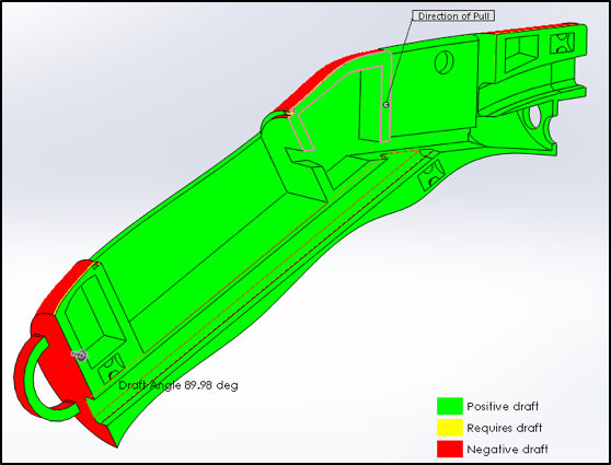 Handle: Injection Mold Drafting