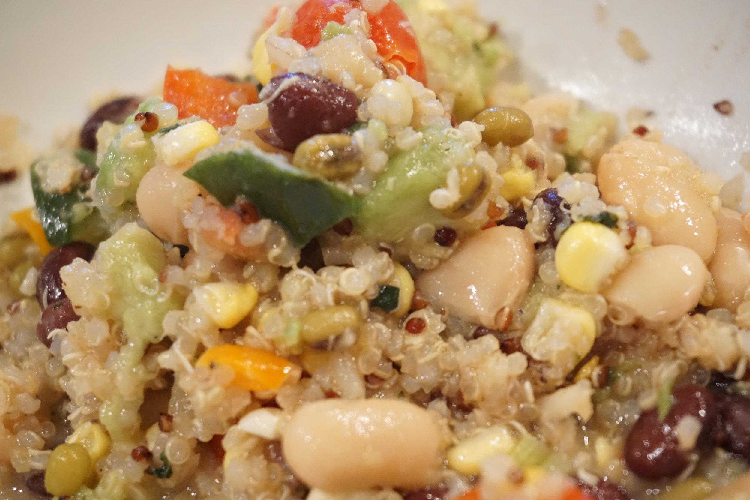 Quinoa salad: Perfect for  green chili